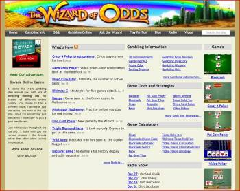 Michael Shackleford's Website, The Wizard of Odds