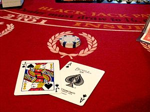 A Total of 21 in a Game of Blackjack