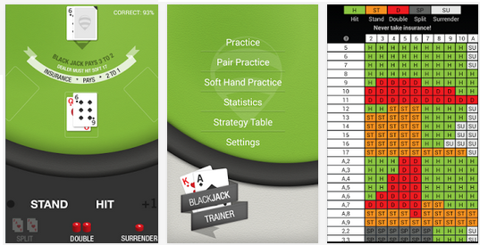 Blackjack Trainer Pro mobile blackjack strategy app